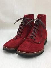 ブーツ/US9/レッド/スウェード