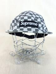 18ss/Checkerboard Camp Cap Black/キャップ/コットン/GRY/チェック