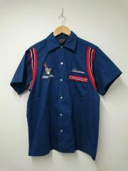 半袖シャツ/M/コットン/NVY/80s/ボーリングシャツ/King Pin