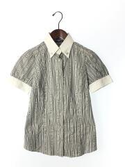 半袖シャツ/38/コットン/WHT/ストライプ