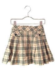 スカート/120cm/ウール/BEG/チェック