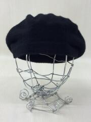 ベレー帽/--/アクリル/BLK/無地