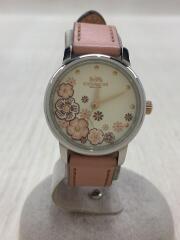 腕時計/アナログ/レザー/CRM/PNK