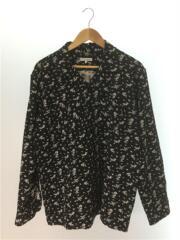 19AW/Dayton Shirt/Floral Jacquard/長袖シャツ/M/コットン/黒/花柄