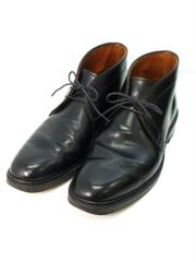 HORWEEN GENUINE SHELL CORDOVAN/チャッカブーツ/US7.5/BLK/馬革/1340