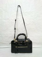OLIVIA BOX MINI LEATHER/2way/クロコ型押/ショルダーバッグ/中古