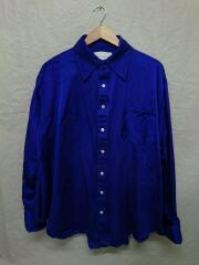 MATTHEW ADAMS DOLAN/シルクシャツ/カフス袖/長袖シャツ/L/シルク/青/着用感有
