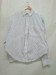 19年モデル/SWITCHING SHIRT/切替/変形/長袖シャツ/34/コットン/ホワイト/ストライ