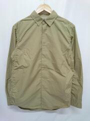 20SS/Typewriter L/S Shirt/NT3004N/シャツジャケット/M/ポリエステル/ベージュ