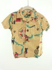 半袖シャツ/90cm/コットン/CML/総柄