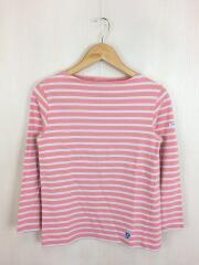 長袖カットソー/バスクシャツ/コットン/PNK/ボーダー/E18 947659