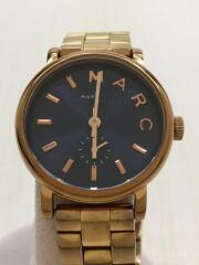 クォーツ腕時計/アナログ/ステンレス/BLK/GLD/111509