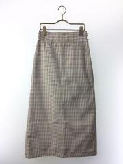19model/ロングスカート/0/ポリエステル/BEG/Wステッチデザインロングスカート/ミラオーウェン