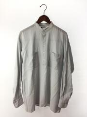 20SS/A20SS01MG/SHUTTLE GEORGETTE CLOTH/長袖シャツ/4/コットン/BLU