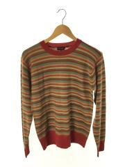 セーター(薄手)/M/ウール/RED/ボーダー/MK.224280/ポールスミスコレクション
