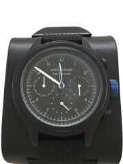 クォーツ腕時計/アナログ/レザー/BLK/BLK/UCQ4A04