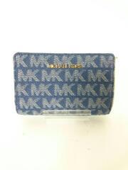 2つ折り財布/--/NVY/総柄/レディース/35S0GTVF6C