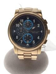 クォーツ腕時計/アナログ/ステンレス/NVY/GLD/MK-855003