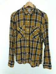 ネルシャツ/L/コットン/YLW/チェック/ワークシャツ/LT5042/リー