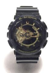クォーツ腕時計/デジアナ/ラバー/BLK/BLK/GA-110GB