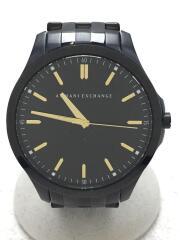 クォーツ腕時計/アナログ/ステンレス/BLK/BLK/AX2144
