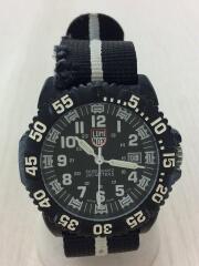 クォーツ腕時計/アナログ/--/BLK/3050/3950/ガラス ベルト傷有り