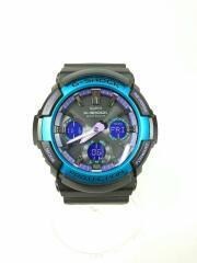 ソーラー腕時計・G-SHOCK/デジアナ/BLU/GAW-100BL-1AJF