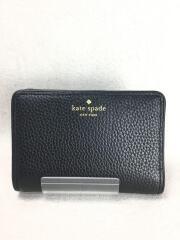 財布/レーヨン/BLK/無地/レディース/スナップボタン