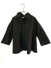 バレンシアガ/半袖シャツ/34/コットン/BLK/総柄/ドット