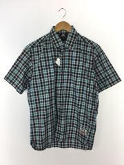 半袖シャツ/M/コットン/BLU/チェック/SS Tartan Shirt/421818