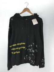 PAINTED PULL OVER HOODY/パーカー/3/コットン/BLK/18SS/UE-180006