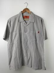 半袖シャツ/M/コットン/WHT/ストライプ