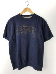フロントロゴ刺繍半袖スウェット/L/コットン/IDG