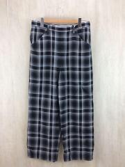 ボトム/1/レーヨン/GRY/19S49/SHADOW CHECK SHIMBO PANTS/19ss