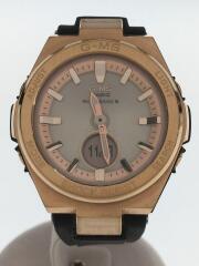 カシオ/ベビージー/ソーラー腕時計・Baby-G/デジアナ/ラバー/GLD/BLK