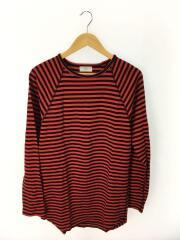 16AW/70163554/長袖Tシャツ/M/コットン/RED/ボーダー/