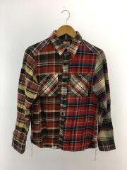 ワークシャツ/40120CZ-01/長袖シャツ//M/コットン/RED/チェック