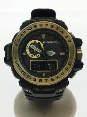 ソーラー腕時計・G-SHOCK/GWN-1000GB/デジアナ/GLD