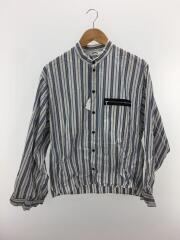 18SS/サンシー/BLUE NOTE STRIPE/ボンバーシャツ/2/コットン/ブルー/ストライプ