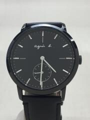 クォーツ腕時計/アナログ/BLK/BLK/VD78-KHB0/本体のみ