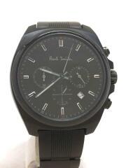クォーツ腕時計/アナログ/ステンレス/BLK/BLK/0520-T021948