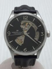自動巻腕時計/アナログ/レザー/BLK/BLK/JAZZMASTER VIEWMATIC/H327050