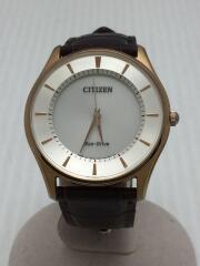 ソーラー腕時計/アナログ/レザー/SLV/BRW/S103738/付属品なし