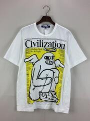 20SS 綿度詰天竺Civilization/Tシャツ/M/コットン/WHT/WE-T003/AD2019