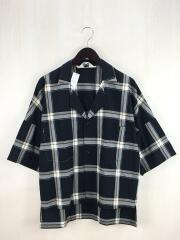 オープンカラーシャツ/2/コットン/BLK/チェック