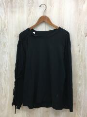 長袖Tシャツ/NC-T59-271/2/コットン/ブラック/無地