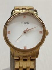 クォーツ腕時計/アナログ/ステンレス/WHT/GLD