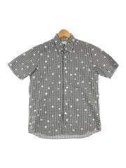 半袖シャツ/1/コットン/GRY/チェック