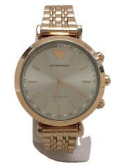 クォーツ腕時計/アナログ/ステンレス/SLV/GLD/ハイブリッドスマートウォッチ