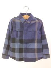 長袖シャツ/120cm/コットン/NVY/チェック